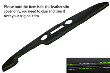 GREEN STITCH PRE AIRFLOW TOP DASH DASHBOARD LEATHER COVER FITS FORD CORTINA MK1
