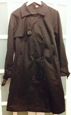 VGC H&M DIVIDED BLACK TRENCH COAT SIZE 16
