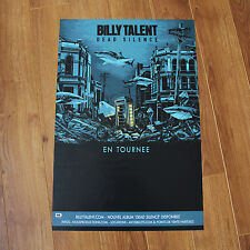 Billy Talent Dead Silence Tour Poster / Affiche Concert 2013