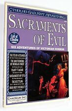The Call of Cthulhu 1890s SACRAMENTS OF EVIL 1993 Chaosium #2345 GASLIGHT RARE
