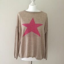 Luella Sand Beige STAR cashmere jumper