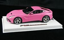 1/18 BBR FERRARI F12 BERLINETTA QATAR MATT PINK ON DELUXE BASE LE 15 PCS N MR