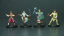 4 PLAYER CHARACTERS. Dungeons and Dragons Miniatures lot: MONSTER MENAGERIE 2
