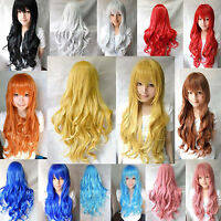 Women's Long Curly Wavy Fancy Dress Wigs Cosplay Costume Ladies Full Wig Party