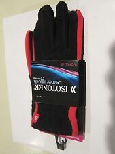 WOMEN'S LADIES RED PINK BLACK ISOTONER SMART TOUCH SCREEN TECHNOLOHY TECH GLOVES