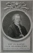 1793 Schöne Otto Christian Jurist Senator Bremen Kupferstich-Porträt Chodowiecki