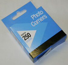 NEW 250 CLEAR PHOTO CORNERS MOUNTS SELF ADHESVE PERFECT FOR ALBUMS C338