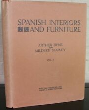 Spanish Interiors and Furniture. by Byne, A., & Stapley, M. Vol. One. 1928 in DJ