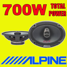 "ALPINE 6""x9"" 6x9 700W 3-way SPG car rear deck oval shelf speakers brand new pair"