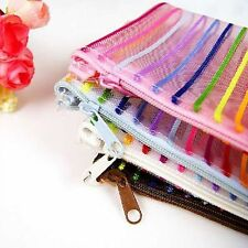 Fine Transparent Plastic Dry Fast PVC Travel Cosmetic Toiletry Bags Zipper Pouch