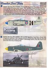 Print Scale Decals 1/72 HAWKER SEA FURY British Carrier Fighter