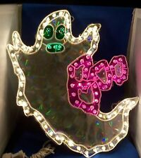 """Halloween Ghost Silhouette Multi-color Plastic Metal 18"""" Lighted Decoration NEW"""