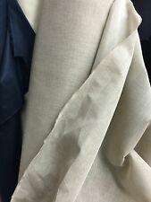 "Linen Cotton Gaze Dress Fabric Stiff Finish 60"" Wide Natural Colour £6.99/ Mtr"