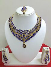 Indian Bollywood Gold Plated Wedding Fashion Jewelry Necklace Set