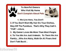 Funny Siamese Cat Rules Refrigerator Magnet