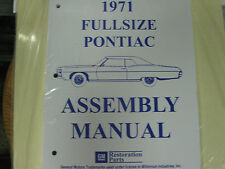 1971 PONTIAC FULLSIZE BONNEVILLE, CATALINA (ALL MODELS) ASSEMBLY MANUAL