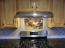 21.25 x 12.75 Art Mural Ceramic Rooster Backsplash Decor Tile #140