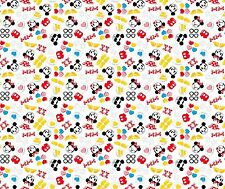 DISNEY MICKEY AND MINNIE WITH FRIENDS FABRIC CP59890