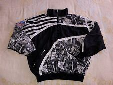 "VINTAGE 80'S 90'S ADULT L HOT DOGGER WINDBREAKER JACKET "" WORLD UNITY "" LOGO B&W"