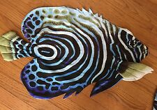 "Blue Angel Fish Pillow Shell Cover Big 29"" X 18"" Make Your Own!"