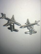 Boeing 757 C56 Aircraft Jet Airliner Fine English Pewter Cufflinks