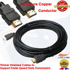 Premium HDMI Cable Gold Plated V1.4 3D High Speed Audio Ethernet 10M/33FT
