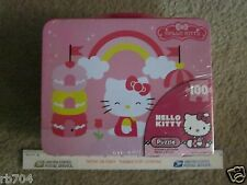 Hello Kitty Lunchbox Tin with Puzzle - NEW - 100 pcs - CHRISTMAS GIFT!!