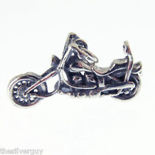 SILVER HARLEY DAVIDSON CHOPPER BIKE CHARM.   ***RETIREMENT CLEARANCE SALE***