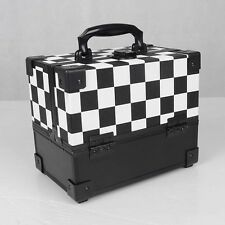 Mollycoddle Small Checked Animal Makeup Box Beauty Nail Case Cosmetic Trolley