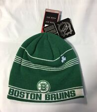 Boston Bruins Knit Beanie Toque Winter Hat Skull Cap NHL New Green Irish Clover