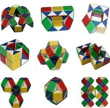 1PC Coloured puzzle snake party bag toy magic cube twist Kids Toys Square Block