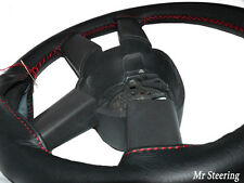 FITS DODGE CALIBER 2006-2012 ITALIAN LEATHER STEERING WHEEL COVER RED STITCHING