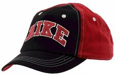 Nike Toddler Embroidered Logo Black/Red Adjustable Cap Baseball Hat Sz: 2/4T
