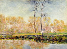 Oil painting Claude Monet - The Banks of the River Epte at Giverny impressionism