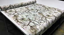 "500D COATED OUTDOOR CORDURA HUNTING CAMO FABRIC 60"" TRUE TIMBER MC2 SNOW WHITE"