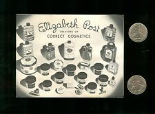Vintage 1941 ELIZABETH POST Cosmetics Mail Order Brochure