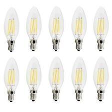 X10 LAMPADINA OLIVA 4W LED FILAMENTO E14 FIAMMA LAMPADA LUCE NATURALE