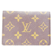 Auth Louis Vuitton Vertical Bifold Pass Card Case Monogram Brown M60533 08R385