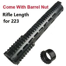 "12"" Free Float Carbon Fiber Quad Rail Handguard With Rail and Steel Nut"