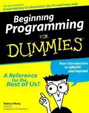 Beginning Programming for Dummies by Wallace Wang (1999, Paperback)