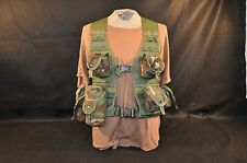 USGI WOODLAND CAMO ASSAULT VEST WITH 10 POUCHES - MOLLE II - ISSUED - GOOD COND.