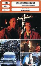 Movie Card. Fiche Cinéma. Mississipi burning (USA) Alan Parker 1989