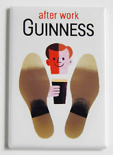 Guinness After Work FRIDGE MAGNET (2 x 3 inches) alcohol poster bar sign