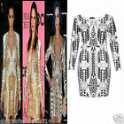 Women Ladies Celeb Kim Kardashian & Kim Khloe Foil Bodycon Party Night Out Dress