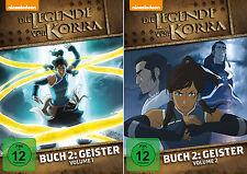 2 DVDs * DIE LEGENDE VON KORRA - BUCH 2  GEISTER - VOL. 1 + 2 IM SET # NEU OVP =