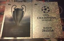 CHAMPIONS LEAGUE MATCH ATTAX 15/16 -LOGO AND TROPHY CARD