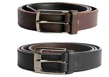 Faux Leather Black and Brown Combo of Belt for Men