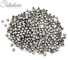 100 perles intercalaire métal couleur argenté mat 3 mm