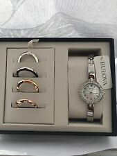 Bulova Women's Mother of Pearl Interchangeable Bezel watch set 98X107  RRP219.00