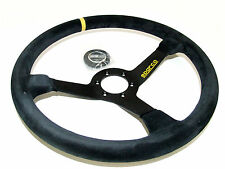 Sparco Steering Wheel - R368 (380mm/65mm Dish/Suede)